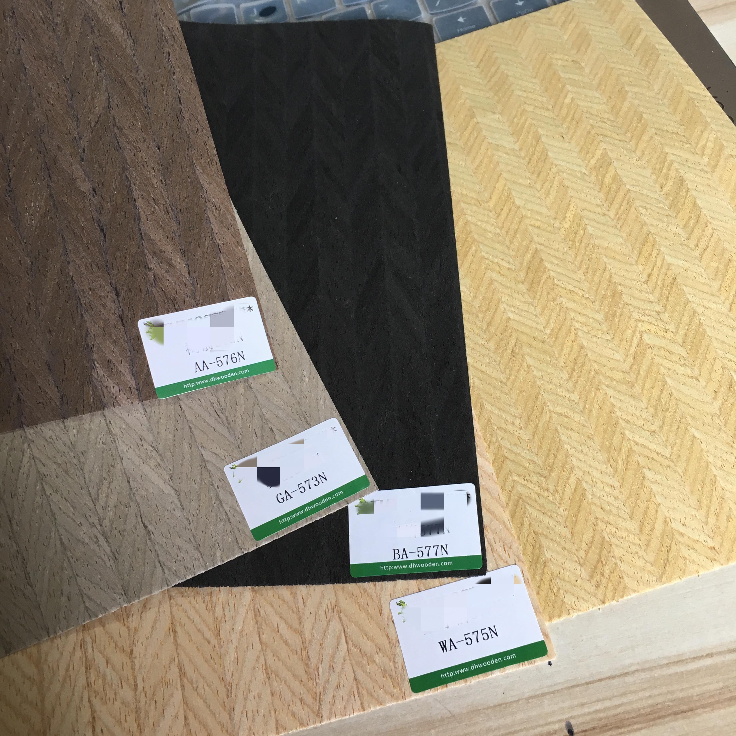 1x placage artificiel placage technique bois tranché placage d'ingénierie E.V. 64cm x 2.5m flèche C/C noir marron gris ivoire