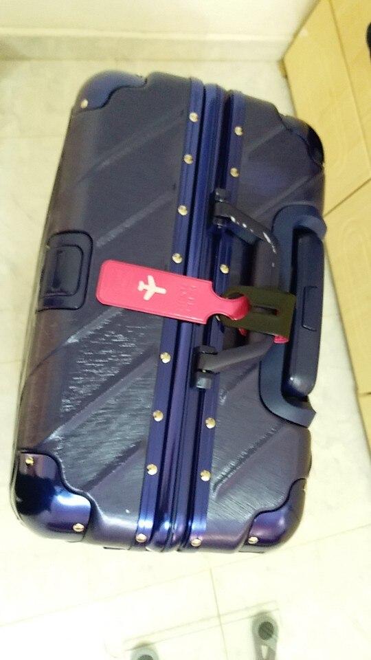 Happy Flight Reisbagage Etiketriem ID / Adres / Naam Bagagelabel Houder Mixproof Herkenbaar Voor Tas / Rugzak Reizen photo review