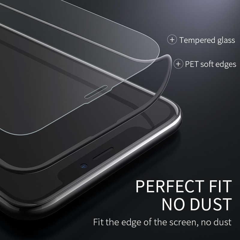 高速オンチップ · オシレータ iphone X XS 最大 XR フル Hd 強化ガラスフィルムスクリーンプロテクター保護 3D フルカバー画面保護