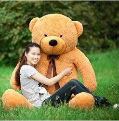 Livraison gratuite 180 CM gros ours en peluche géant peluche marron jouets en peluche taille réelle enfant poupées filles jouet cadeau 2018 nouveauté - 2