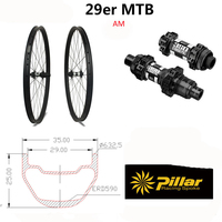 35*25 MTB Углеродные колеса 29 для горного велосипеда MTB Колесная 29er/27.5er MTB бескамерное карбоновое колесо Диски горный велосипед