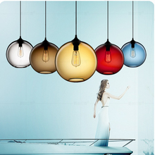 Modern LED E27 Colorful Pendant Lights Restaurant Coffee Bedroom Hanging Lights Stained Glass Lamp Light Pendant Lamps Luminaria недорого
