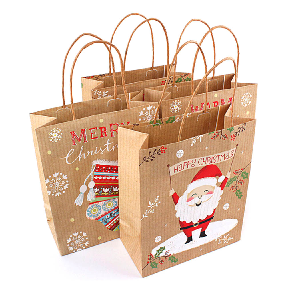 Wedding Paper Gift Bags: 2018 Merry Christmas Gift Bags Kraft Paper Wedding Candy
