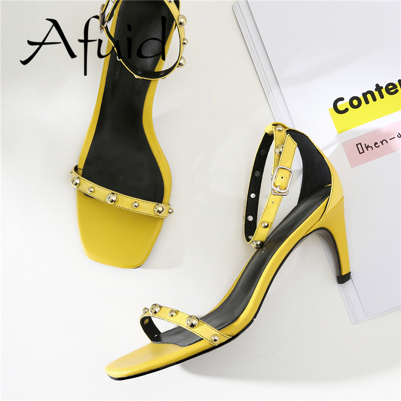 AFUID Summer 2018 New Women Pumps Wedding Shoes Woman Thin High Heels 9CM Nude Fashion Sexy