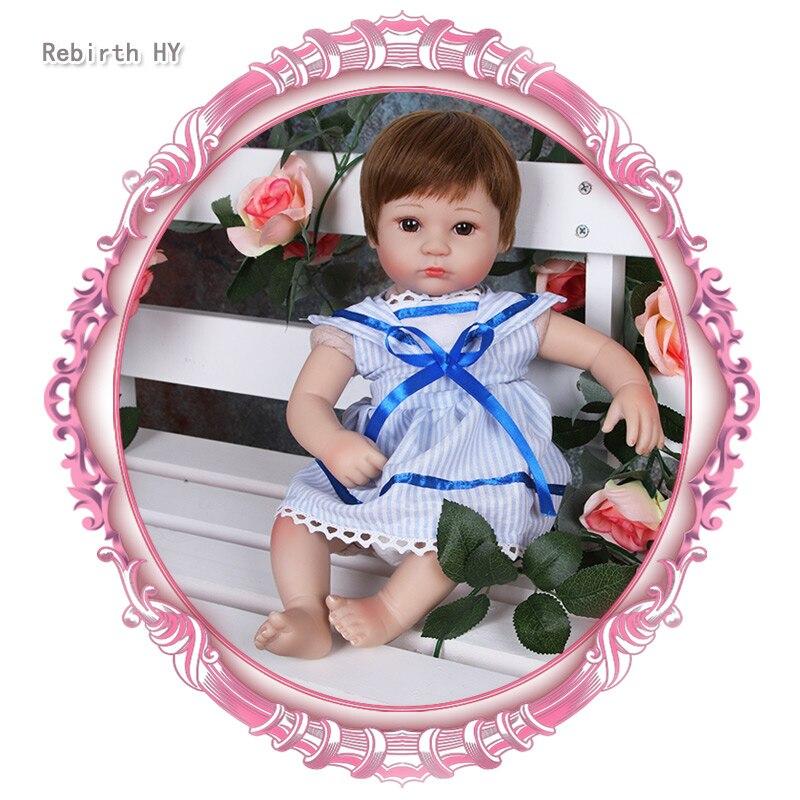 16 Inch Silicone Reborn Baby Dolls Handmade Lifelike Newborn Baby Brand Doll Soft Fashion Dolls For Girls Toys Gift Brinquedos hot 17inch soft silicone reborn dolls toys 45cm lifelike girl baby dolls newborn reborn doll brinquedos for birthday gift