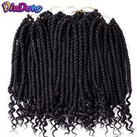 DinDong Весна Вьющиеся сенегальское плетение, Гаванские кудри вьющиеся концы волос крючком плетение волос Синтетический 12 дюймов дреды волосы
