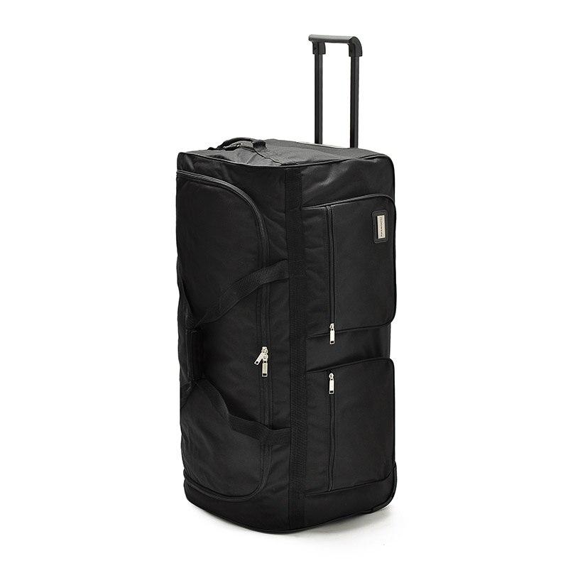 32 40 zoll ultraleicht nylon super große kapazität trolley gepäck reisetasche weichen leinwand männlichen gepäck überprüft tasche-in Reisetaschen aus Gepäck & Taschen bei  Gruppe 2