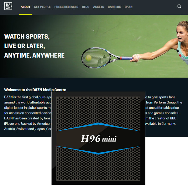 1 Year DAZN account for Sports events Only work in Italy and Germany on Set top box Media player Without H96MINI tv box 1 year dazn iptv sports live and on demanding streaming with h96mini 2g16g s905x tv box esuntv europe italy iptv set top box