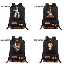 2018 New Anime Bleach Backpack Canvas black Backpack military student School backpack men women Laptop Bags Travel bag 8 style