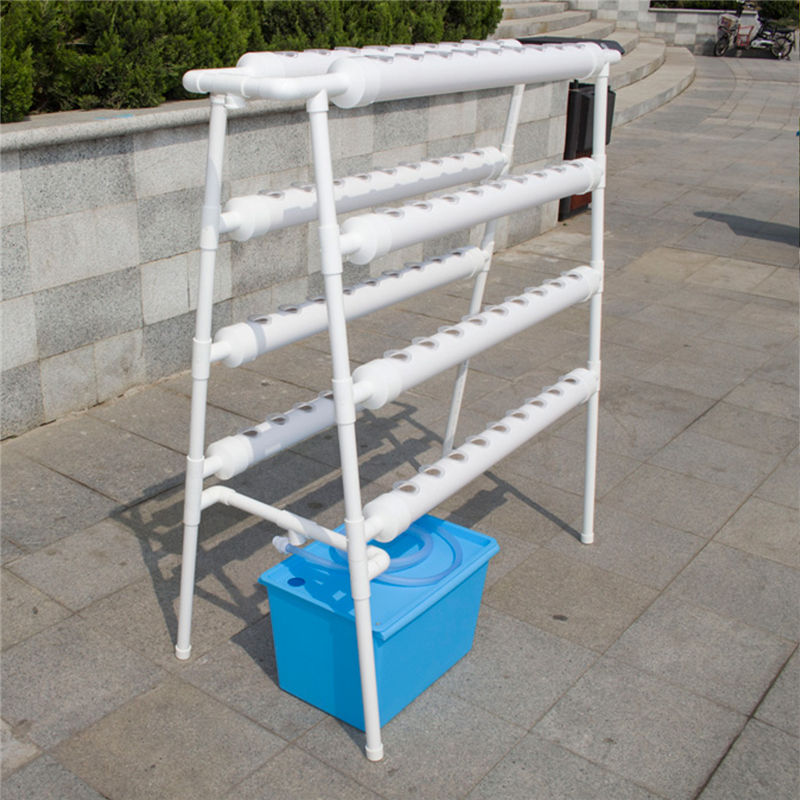 Hydroponic Grow Kit 72 Sites Holder Pipe Ladder-type Plant System Engraftment Baskets 110V Deep Well Pump Vegetable Garden Tools