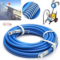 13m 5000psi High Pressure Pipe Airless Paint Hose 50' x 1/4 Sprayer Airless Paint Hose For Spray Guns Sprayer Water
