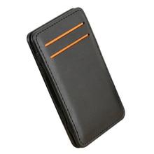 купить Slim Credit Card Holder Mini Wallet ID Case Purse Bag Pouch Black Business Pocket Card Holders Bags Case Wallet Box For Men по цене 165 рублей