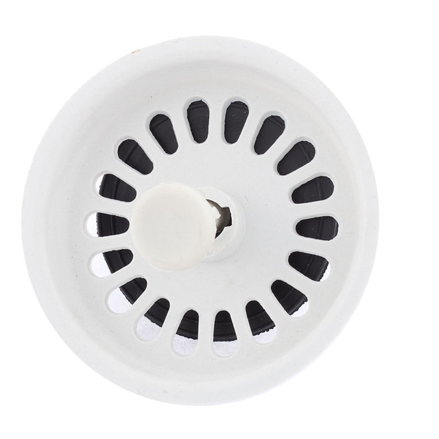 uxcell white black plastic bathroom kitchen sink stopper drain strainer blackwhite - Kitchen Sink Stopper