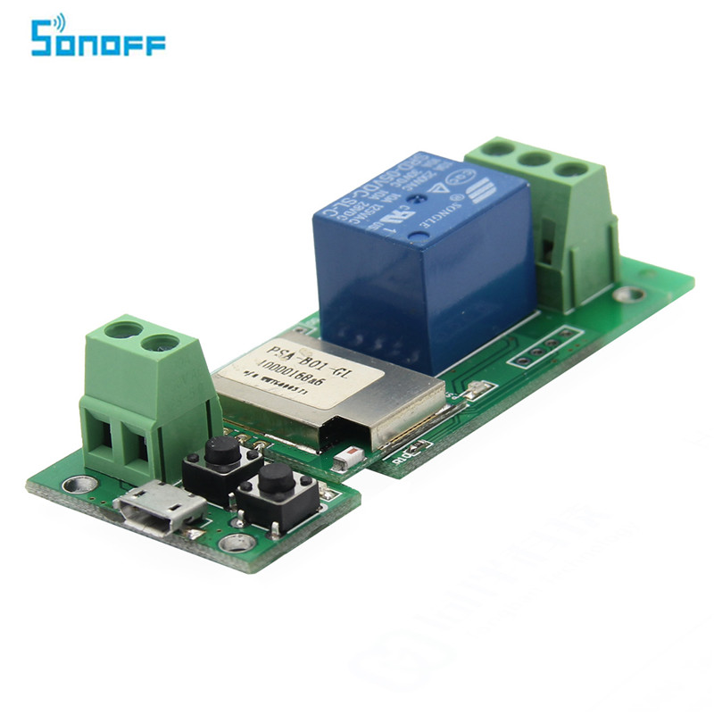 SONOFF USB 5V DIY 1 Channel Jog Inching Self-locking WIFI Wireless Smart Home Switch APP Remote Control Module for IOS/Android