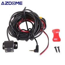 AZDOME Auto Videocamera vista posteriore 2.5mm (4Pin) martinetti Porta Video Porta Con Visione Notturna LED Per GS63H M06 DVR Video Recorder Impermeabile