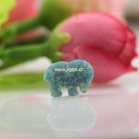 Hot Selling Ivory Ella Special Custom Logo 8 6 12mm Op03 Synthetic Opal Elephant Stones For
