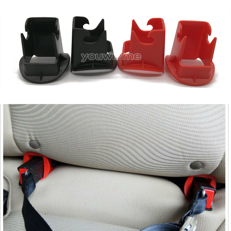 2Pcs Car Children Safety Seat Fixed Buckle Guide Groove Buckle Baby Kids