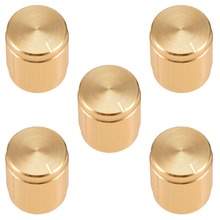 UXCELL 5Pcs 15/17x17mm Aluminium Alloy Potentiometer Volume Control Rotary Knob Knurled Shaft Hole Gold Tone Switch Accessories цена