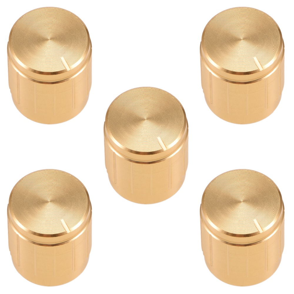 1pc 21x17mm Circular Knob Aluminium Cover for Audio Volume Tone Control 3 colors
