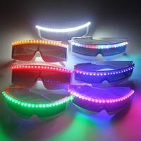 6 Colors Flash LED Glasses , X Men Flashing Laser Emitting Glasses For Laser Show Belly Dancer Dress Accessorie