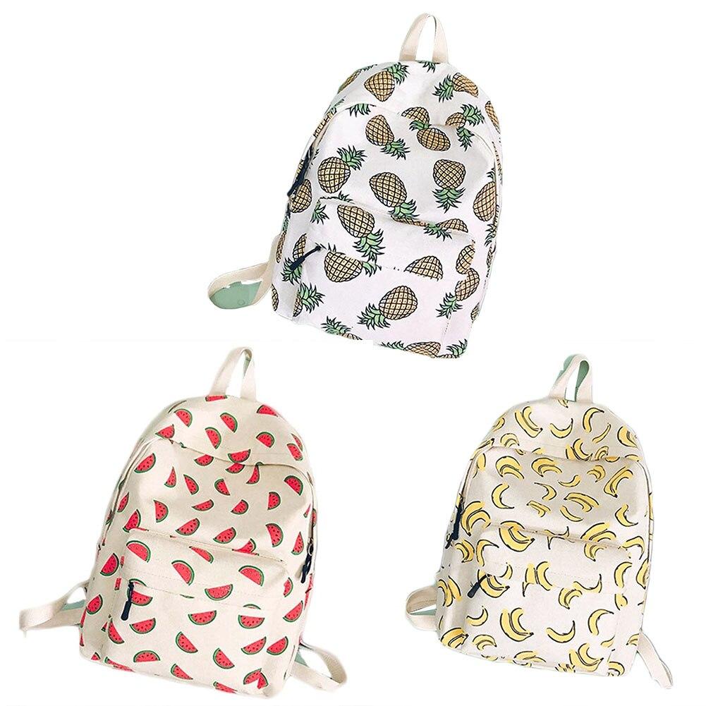 Women Backpack For School Teenagers Girls Boys Bags Pineapple Cute Back Pack Canvas Printing Backpacks Travel Mochila