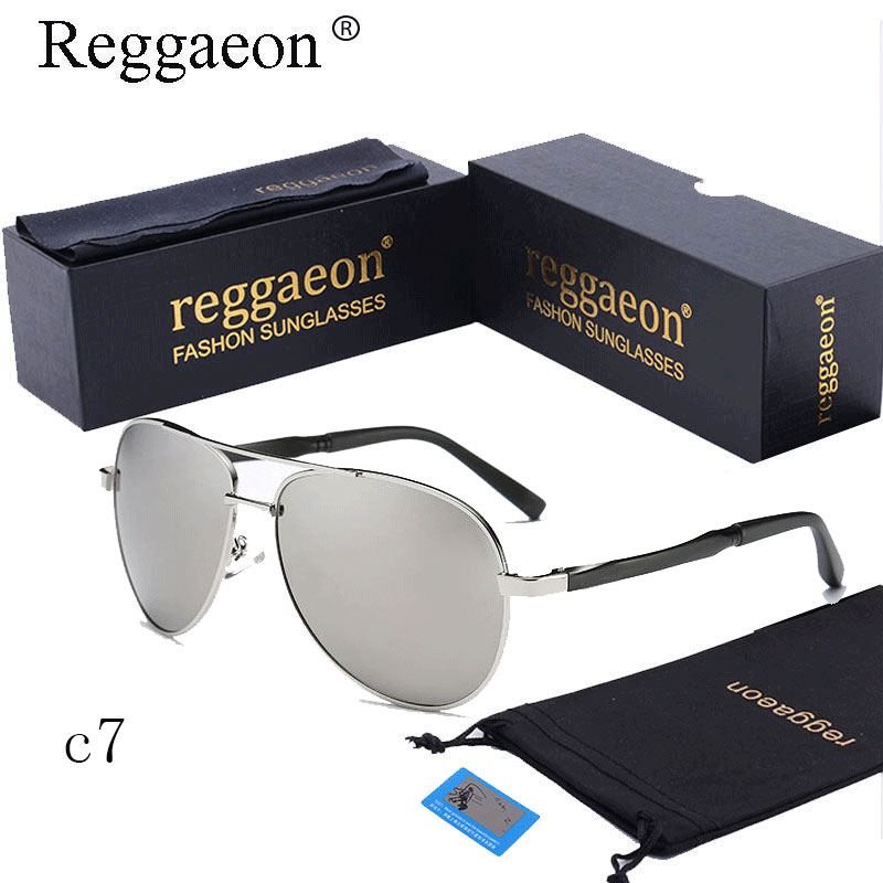 5bfe91b661 Clásico de 2019 reggaeon diseño de marca caliente gafas de sol para hombres,  gafas de UV400 ojos proteger deportes revestimiento gafas de sol Google  piloto ...