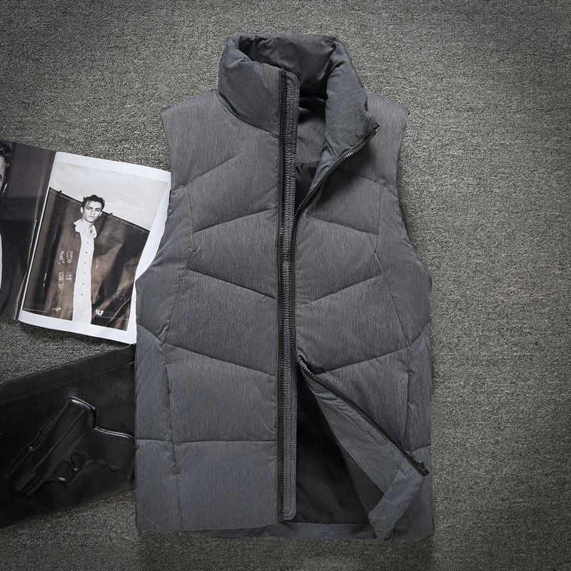 WunderschöNen Herren Winter 90% Weiße Ente Unten Weste Männlich Stehen Kragen Mode Unten Weste Männer Qualität Ärmellose Jacke Oberbekleidung Vt-805 Schmuck & Zubehör