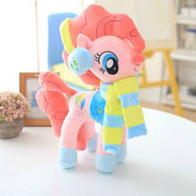 Drop Shipping 40 cm Big Size Clothes Accessories Wearable Cartoon Pony Unicorn Stuffed Plush Toys For Children & Fans Gift(China)