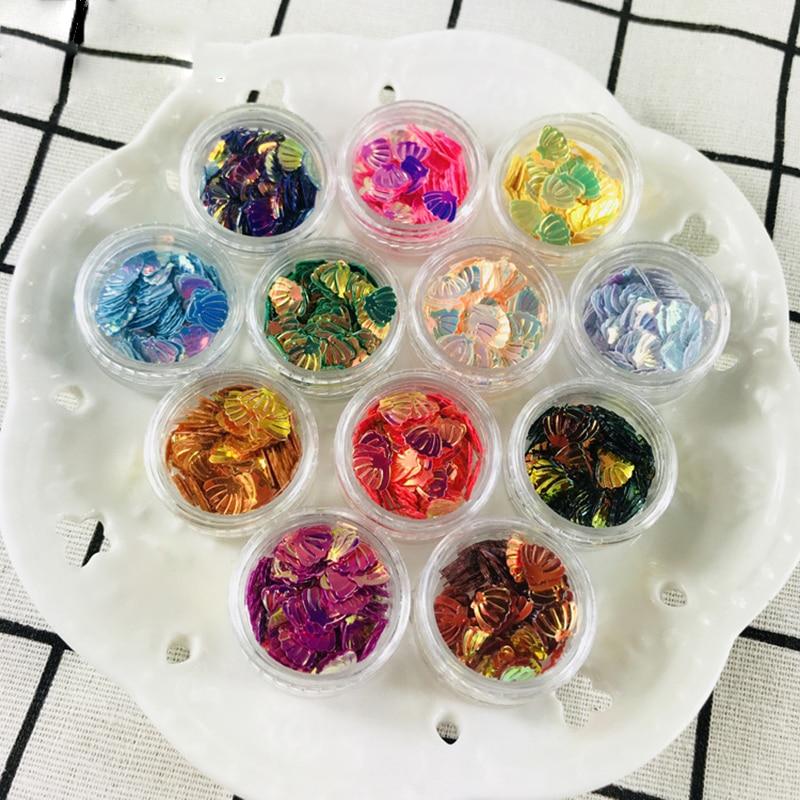 Doreen Box Fashion PVC Resin Jewelry Tools DIY Making Craft Shell Colorful Fashion Sequin Equipments 30mm(1 1/8