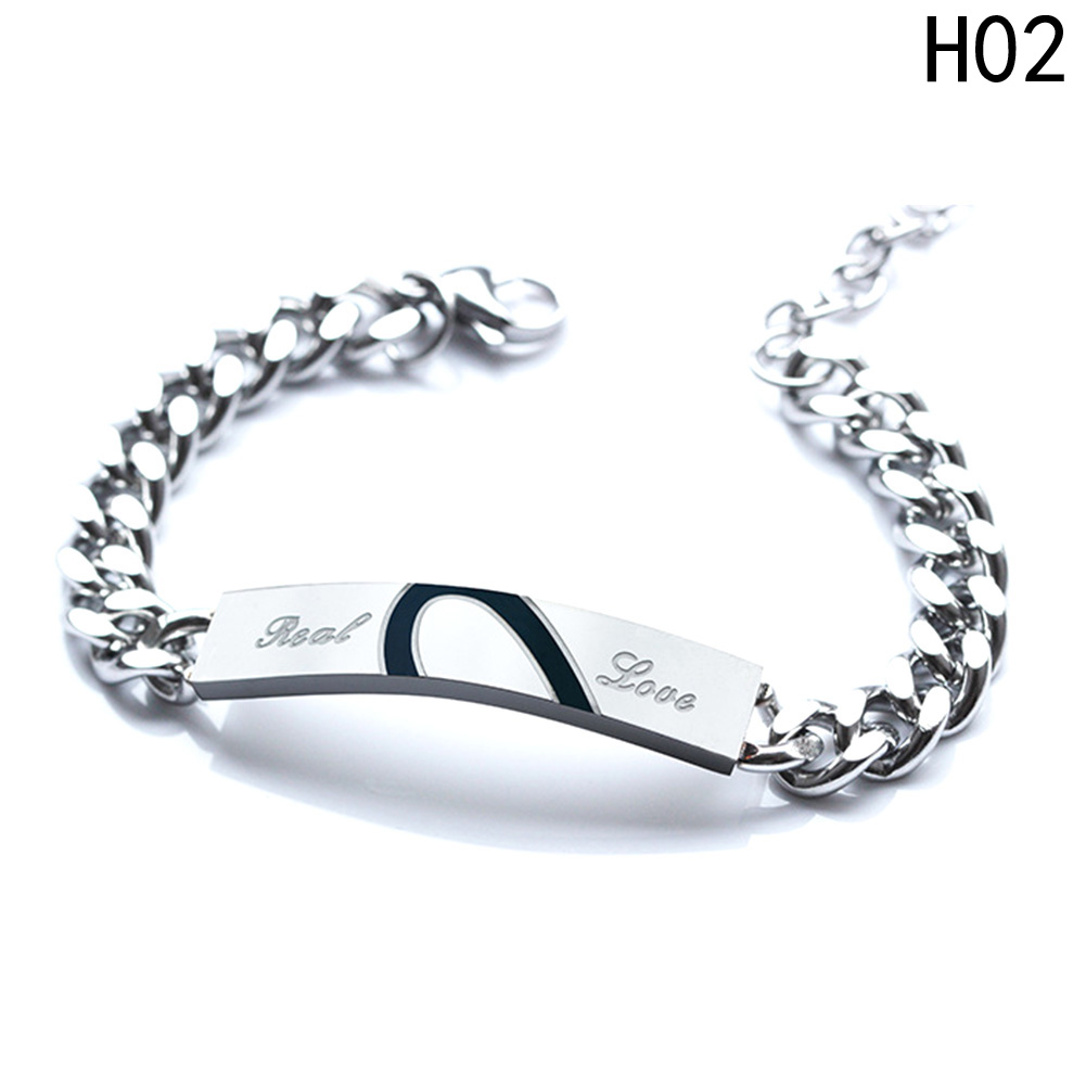 Black Adjustable Punk Rock Leather Chain Stud Bangle Wristband Bracelet Gift T1