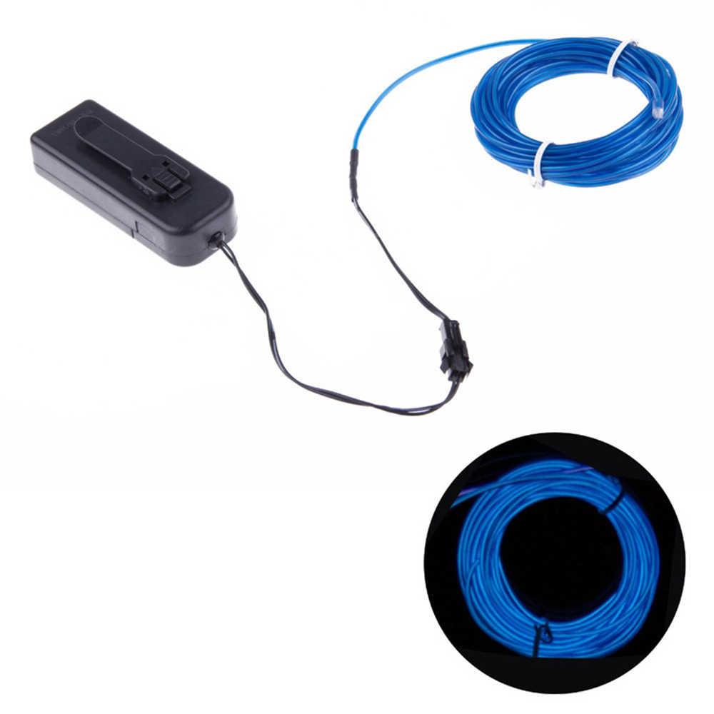 3 режима гибкий неоновый свет светящийся EL провод линейное светодиодное освещение EL провод полоса трубка с контроллером автомобиля танцевальное оформление 3 м/5 м
