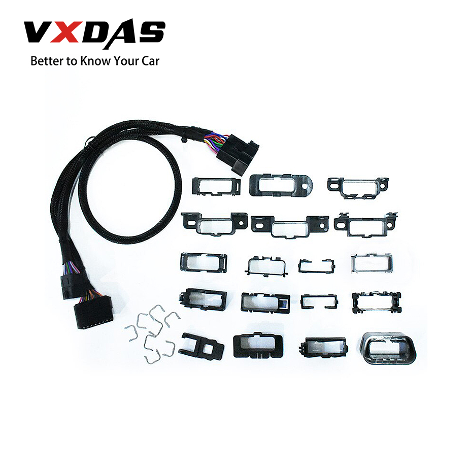 VXDAS Universal Harness Kit Splitter Extension 16Pin OBD T Cable Car/Auto Plastic Flange Mount Brackets/Connector/Adapter Set-in Car Diagnostic Cables & Connectors from Automobiles & Motorcycles