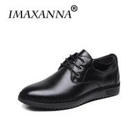 IMAXANNA Men Casual Shoes Genuine Leather Shoes Men Luxury Leather Men Shoe Business Office Classic Shoes