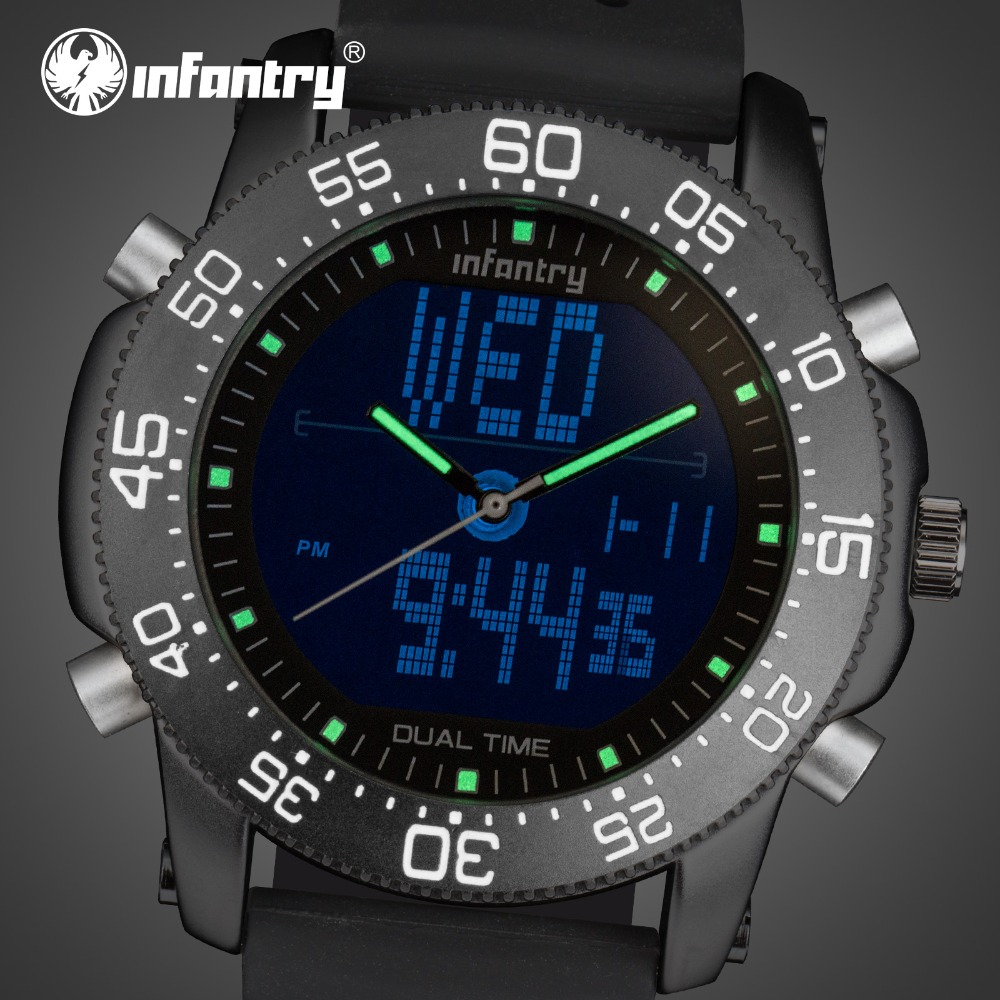 LED Analog Digital Sport Military Aviator Army Watch For Men