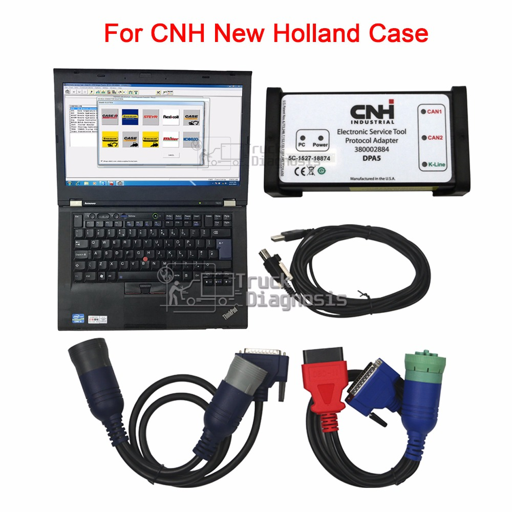 7b4c2a7b67e1 US $1282.5 5% OFF|Diagnostic Kit CNH Est for New Holland Electronic Service  Tool Agriculture tractor Engine Diagnostic scanner+T420 laptop-in Car ...