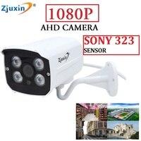 Zjuxin Metal Outdoor SONY SENSOR 1080P AHD CAMERA USE 4 ARRAY LED 2MP CCTV Camera Indoor
