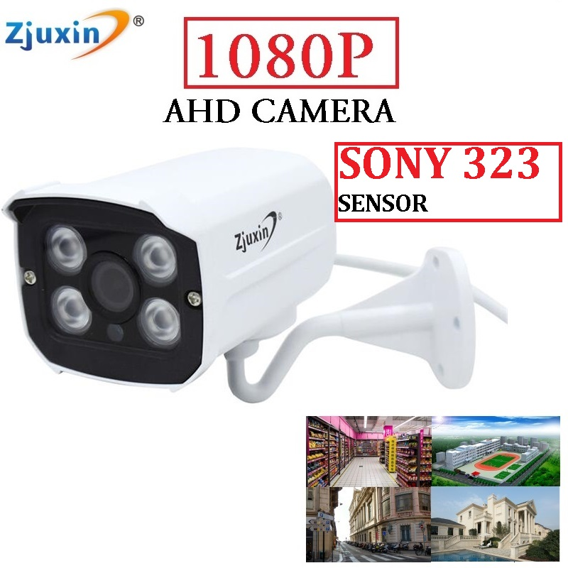 Zjuxin Metal outdoor SONY SENSOR 1080P AHD CAMERA USE 4 ARRAY LED 2MP CCTV Camera Indoor 1080P 3.6mm lens easy to install wistino cctv camera metal housing outdoor use waterproof bullet casing for ip camera hot sale white color cover case