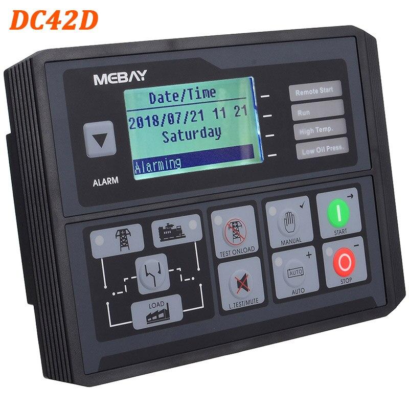Регулятор генераторной установки DC40D/42D MK3 контроллер генератора для дизельных/бензиновых/газовых генераторных установок контроль параметров 12006054 - Цвет: DC42D