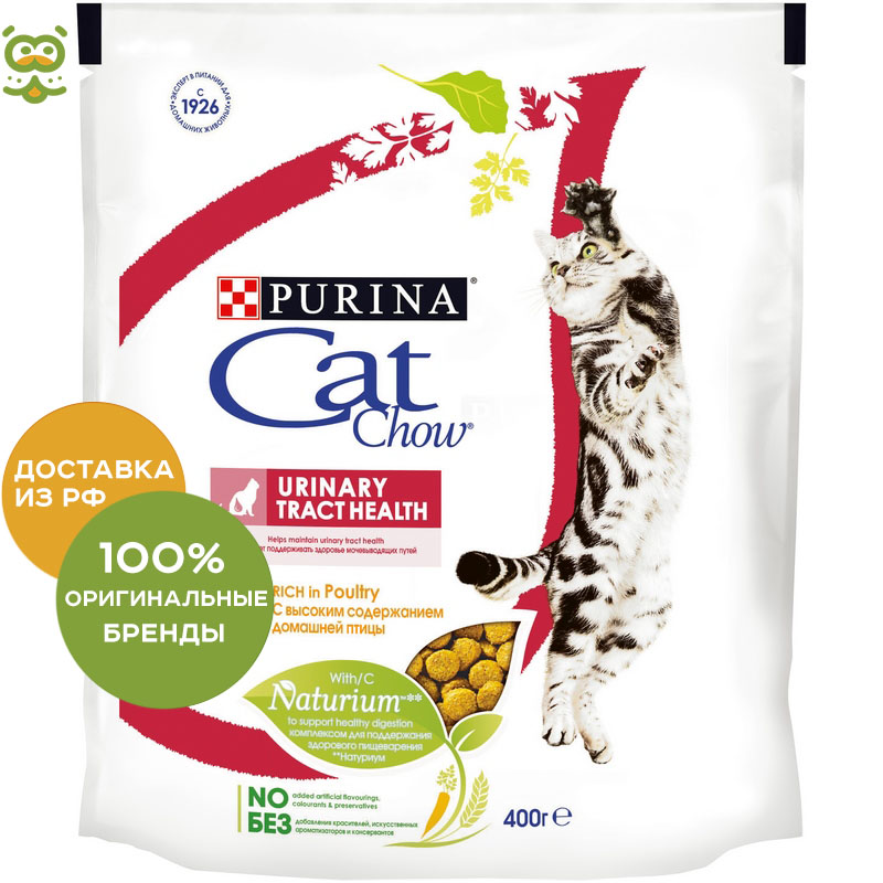 Cat food Cat Chow Special Care Urinary for cats in the prevention of ICD, Poultry, 4 * 400 gr. 11th cat volume 4