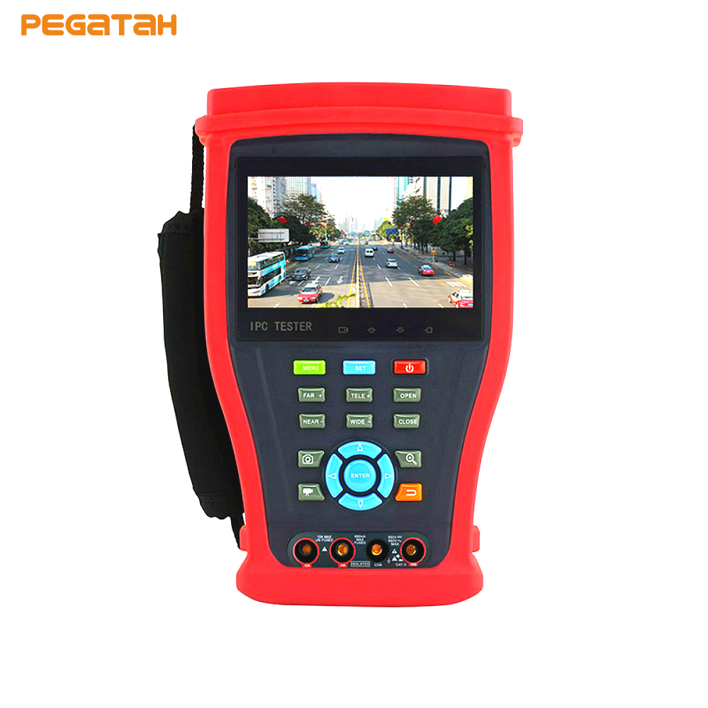 Latest 8MP TVI 5MP AHD 4K H.265 IP Camera Tester Analog CVBS AHD CVI TVI IP CCTV Tester Monitor with HDMI input ,Cable test