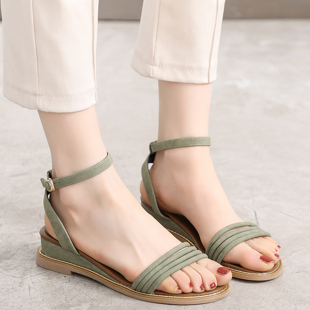 9f0ab981447 Women Sandals Open Toe Shoes Summer 2018 Women s Sandles Wedges Fashion  Female Shoes Korean Style Casual Gladiator Shoes Girls