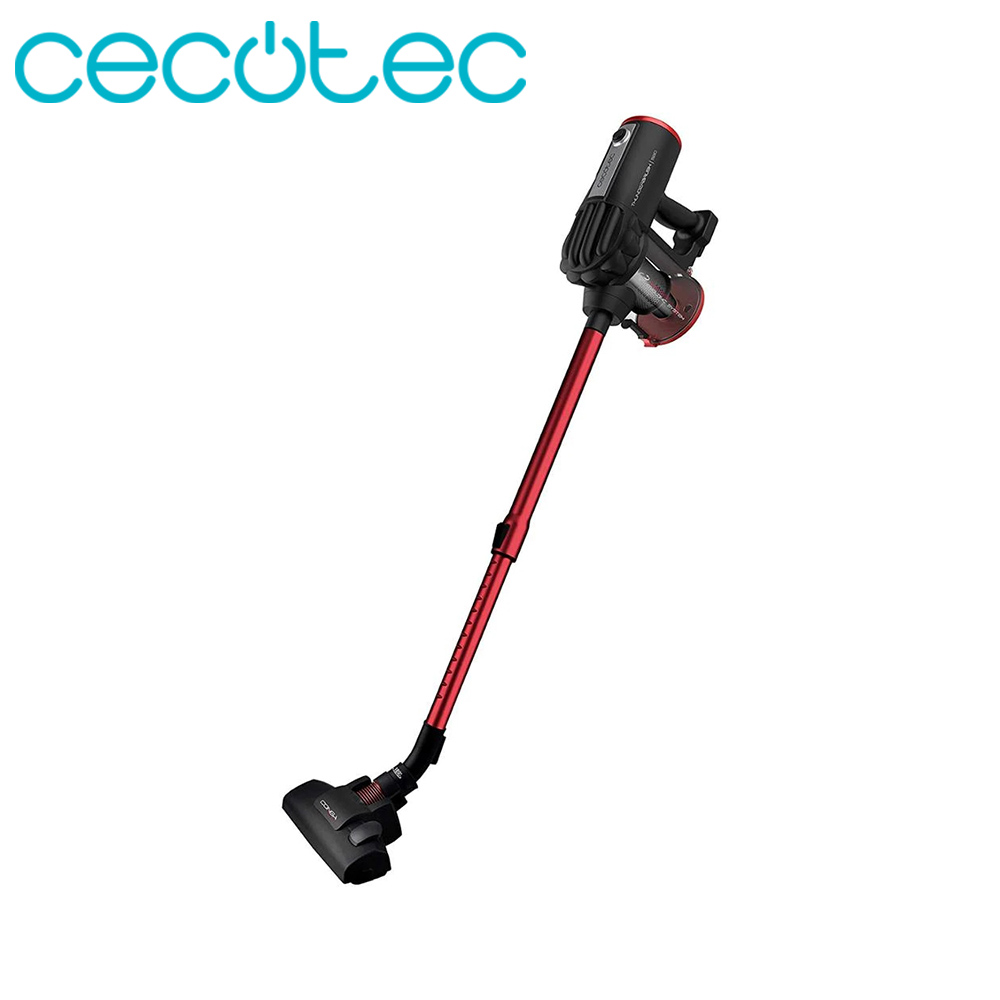Cecotec Vertical Vacuum Conga Thunder Brush 520 Vacuum Silent with HEPA Filter Professional Cleaner in Red Color