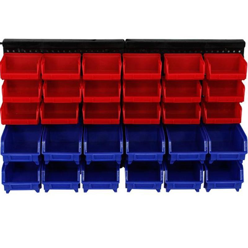 Aletler'ten Alet Kutuları'de Yeni Duvara monte Kutusu Aracı Parçaları Garaj Ünitesi Rafları Organizatör Antistatik Plastik Alet Parçaları Durumda