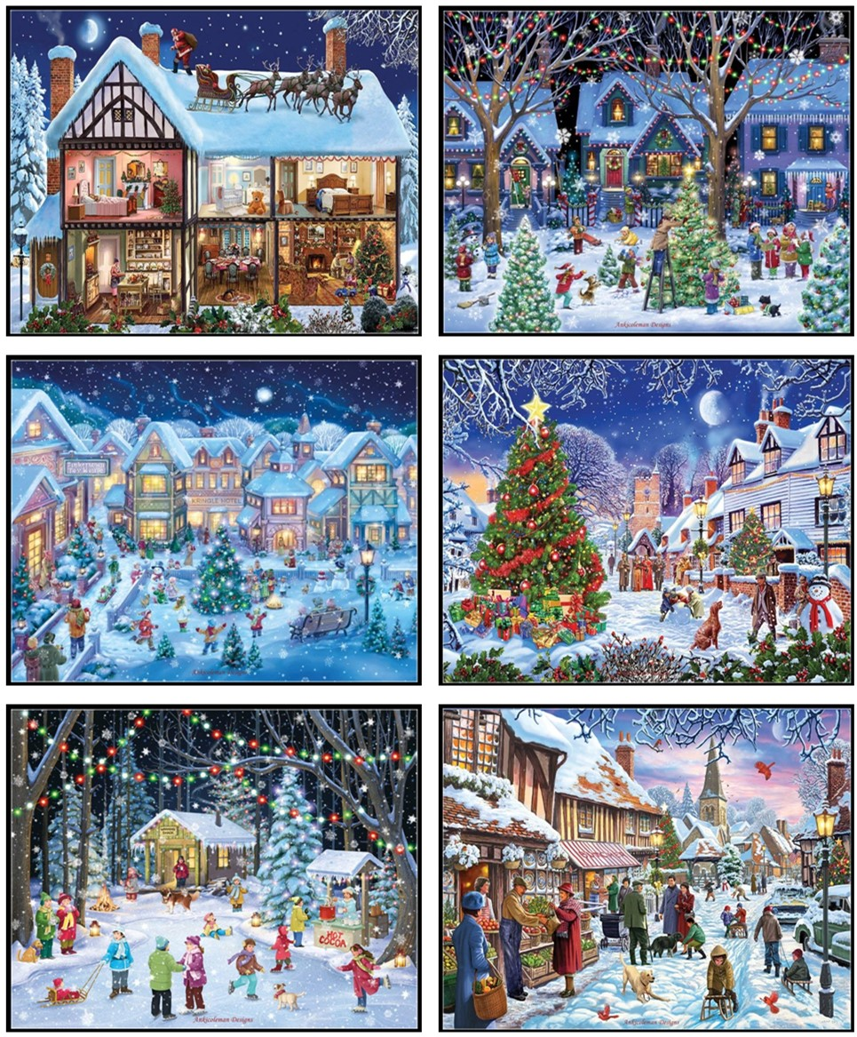 Embroidery Counted Cross Stitch Kits Needlework - Crafts 14 Ct DMC Color DIY Arts Handmade Decor - Village Christmas Collection