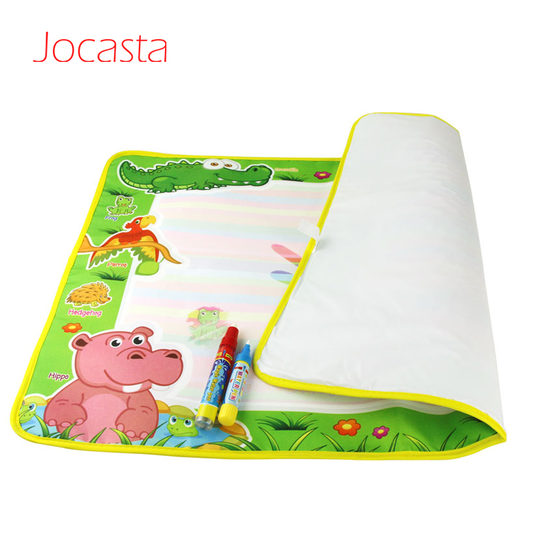 74x49cm Drawing Blanket Kids Painting Cute Animals Pattern Doodle Mat with 2 pcs Water Pen Kindergarten Kids Toy DIY Toy
