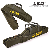 Hot Sale LEO 100cm 150cm Fishing Bags Portable Folding Fishing Rod Carrier Canvas Fishing Pole Tools