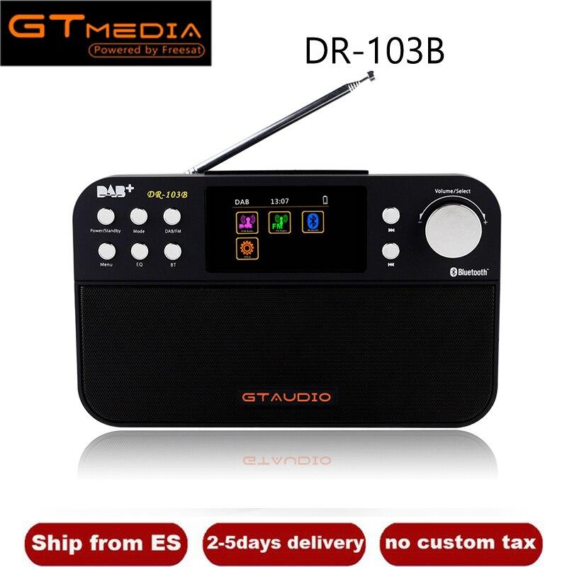 Radio portable GTMedia DR-103B Numérique FM Radio DAB + Radio Pour ROYAUME-UNI de L'UE avec bluetooth Intégré Haut-Parleur de Soutien TF Carte Pour Mp3