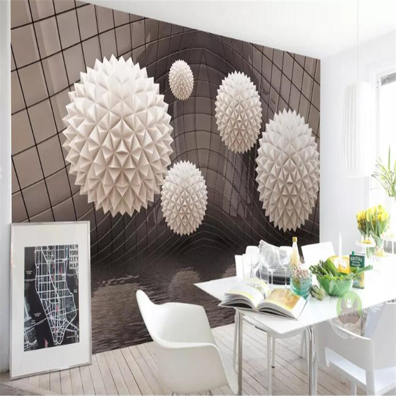 Creative ball abstract space water pattern TV background wall professional production mural wholesale wallpaper custom photo wal in Fabric Textile Wallcoverings from Home Improvement