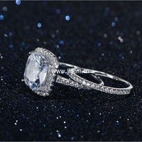 Wedding Ring Set For Women Vintage 925 Silver With Inlay AAA CZ Ring Female Jewelry