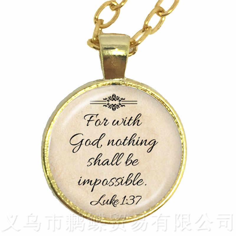 אוהב את אדון שלך אלוהים Withall שלך לב לוק זכוכית קולר שרשרת מתנה עבור מאהב חברים מניע אנשים פתגם מפורסם
